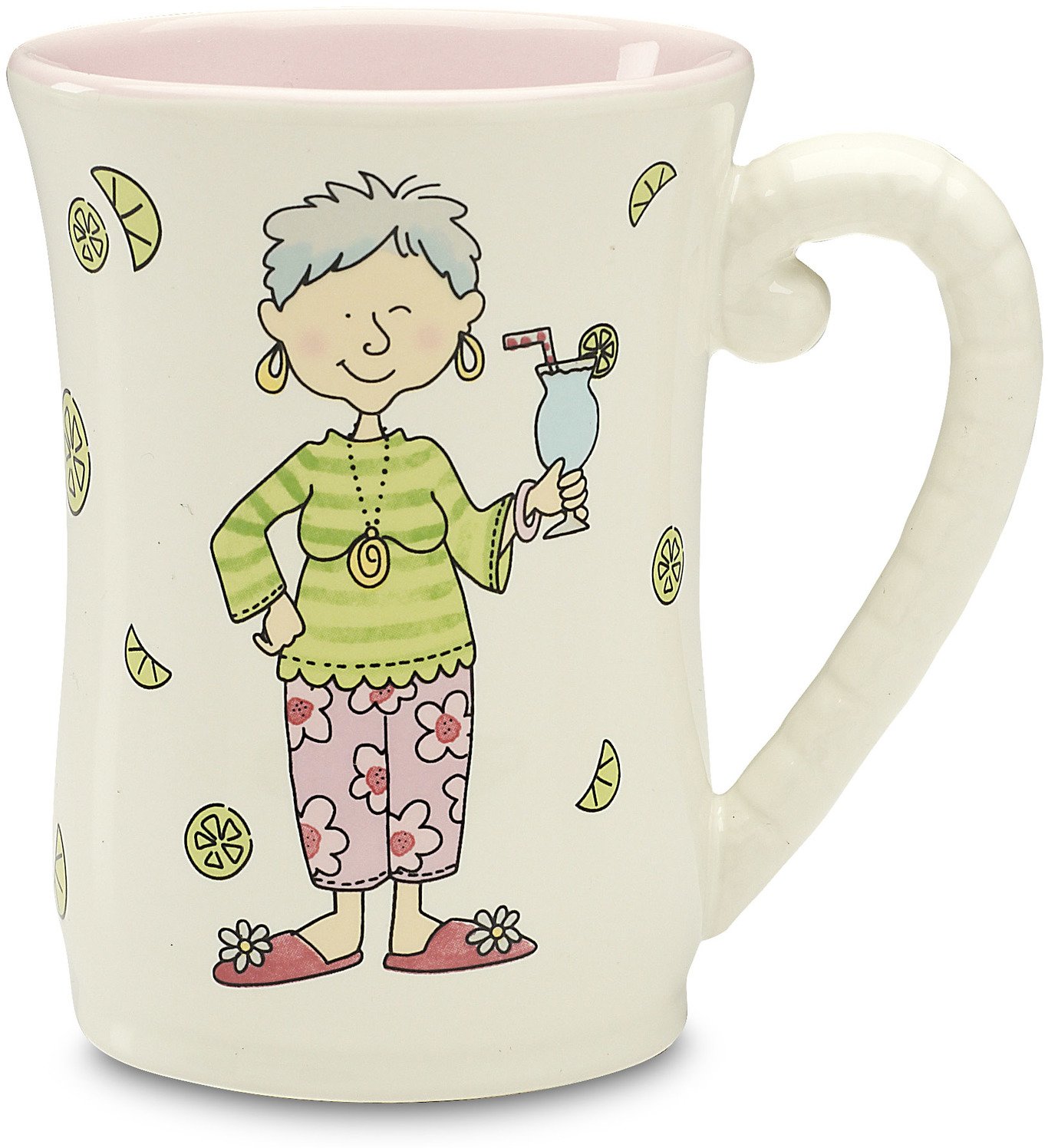 Well Seasoned The Retirement Plan Pink Ceramic Coffee Mug - Grandma