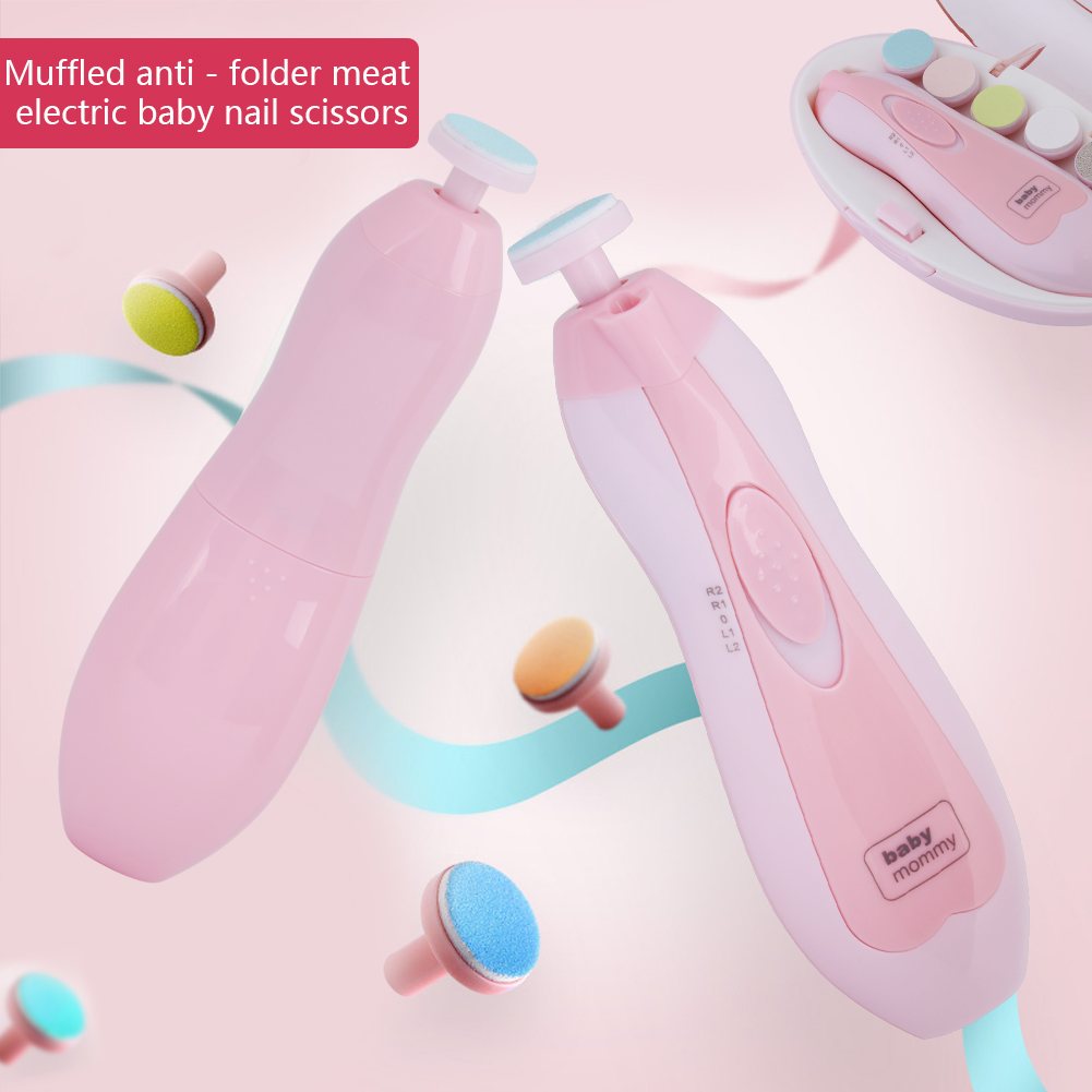 TMISHION Safe Baby Electric Nail Clipper,Baby Nail Clipper Trimmer Toes & Fingernails