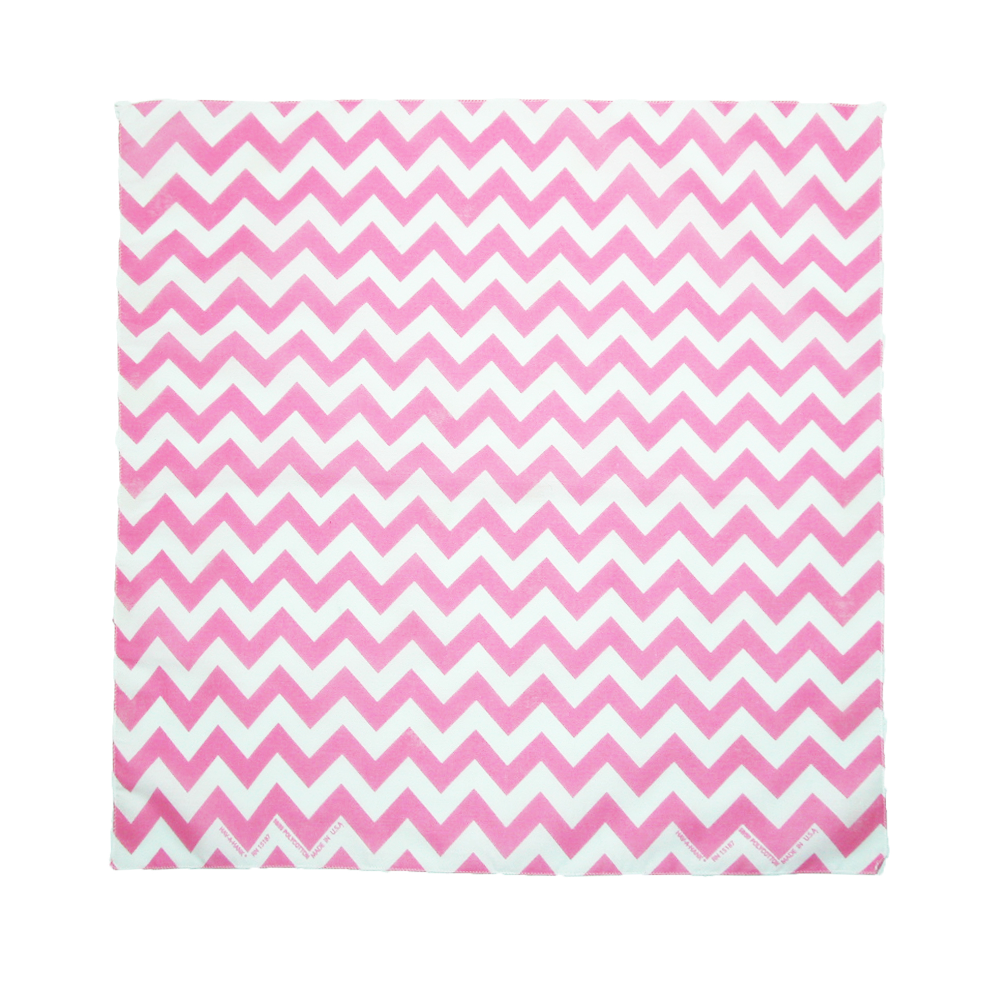 CTM®  Womens Cotton Chevron Print Bandanas, Pink