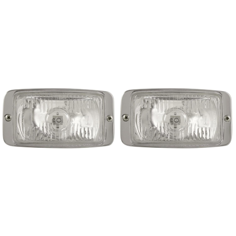 Pilot Automotive NV-106 3 x 5 H3 55 watt Chrome Bezel Driving Lamp Clear Size: 5-3/4 x 3 x 2