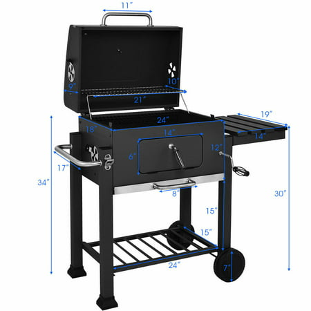 Charcoal Grill Barbecue BBQ Grill Outdoor Patio Backyard ...
