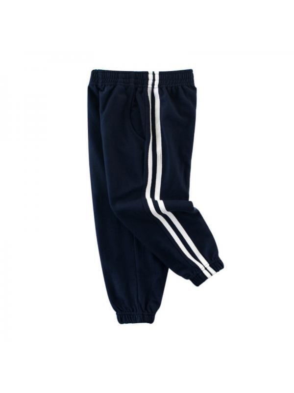 JLONG Baby Boy Girl Striped Sports Trouser Toddler Kids Casual Long Pants