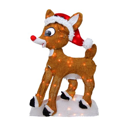 "Rudolph the Red Nosed Reindeer Christmas 24"" Prelit 2D Outdoor Decoration - Clear Lights"