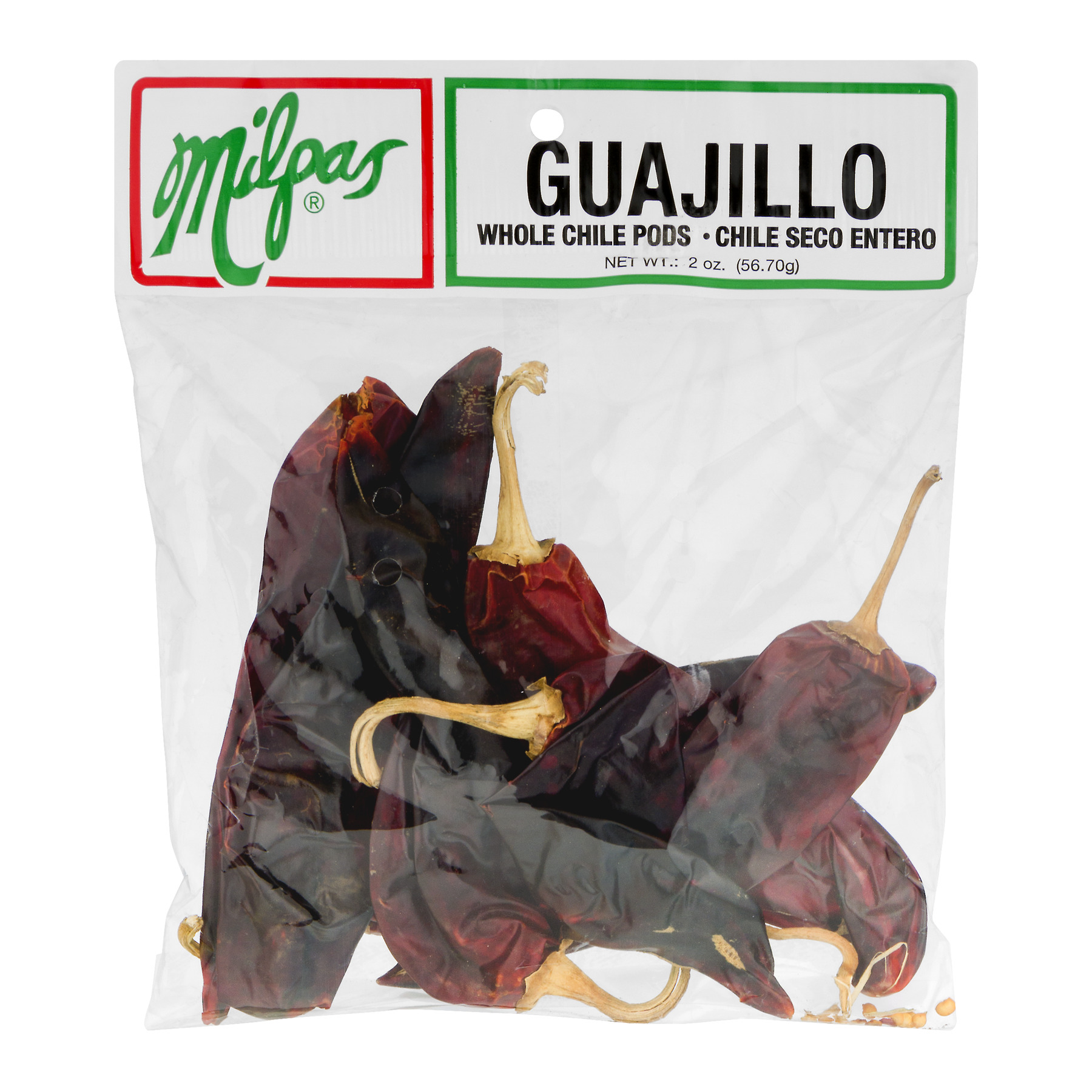 (3 Pack) Milpas Guajillo Whole Chile Pods, 2.0 OZ