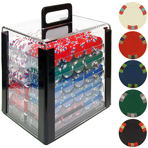 Trademark Poker 1000 Lucky Bee Edge Spot NexGen Chips in Acrylic Carrier by TRADEMARK GAMES INC