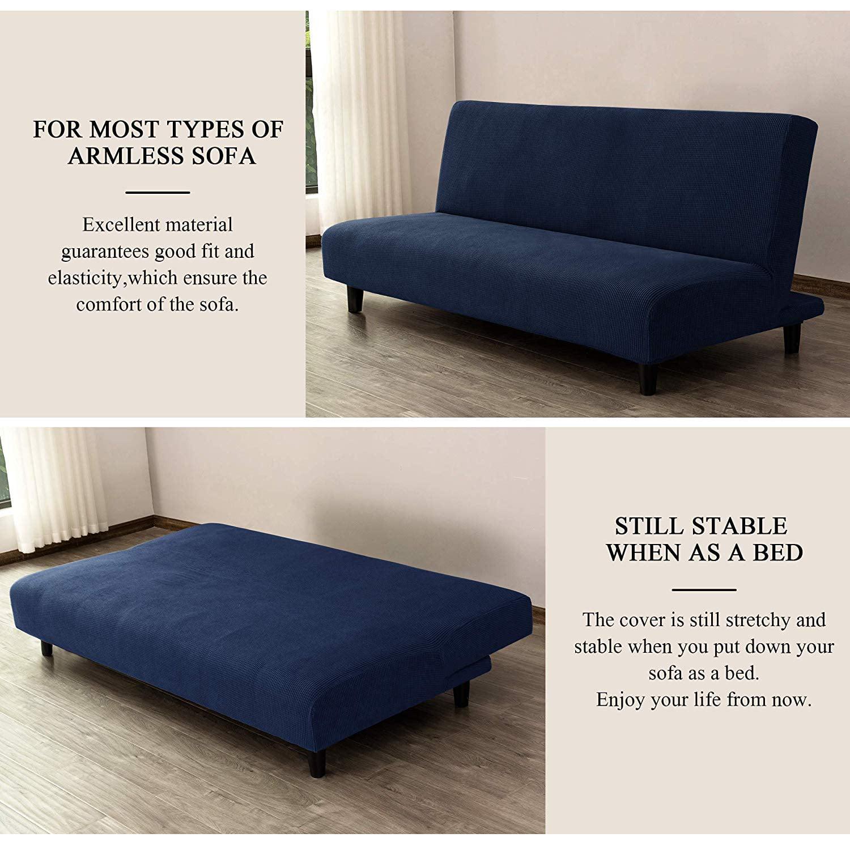 Sofa Cover Soft Fuu Wrap Concise Style Fabric Slipcover Elastic Solid Non-Slip