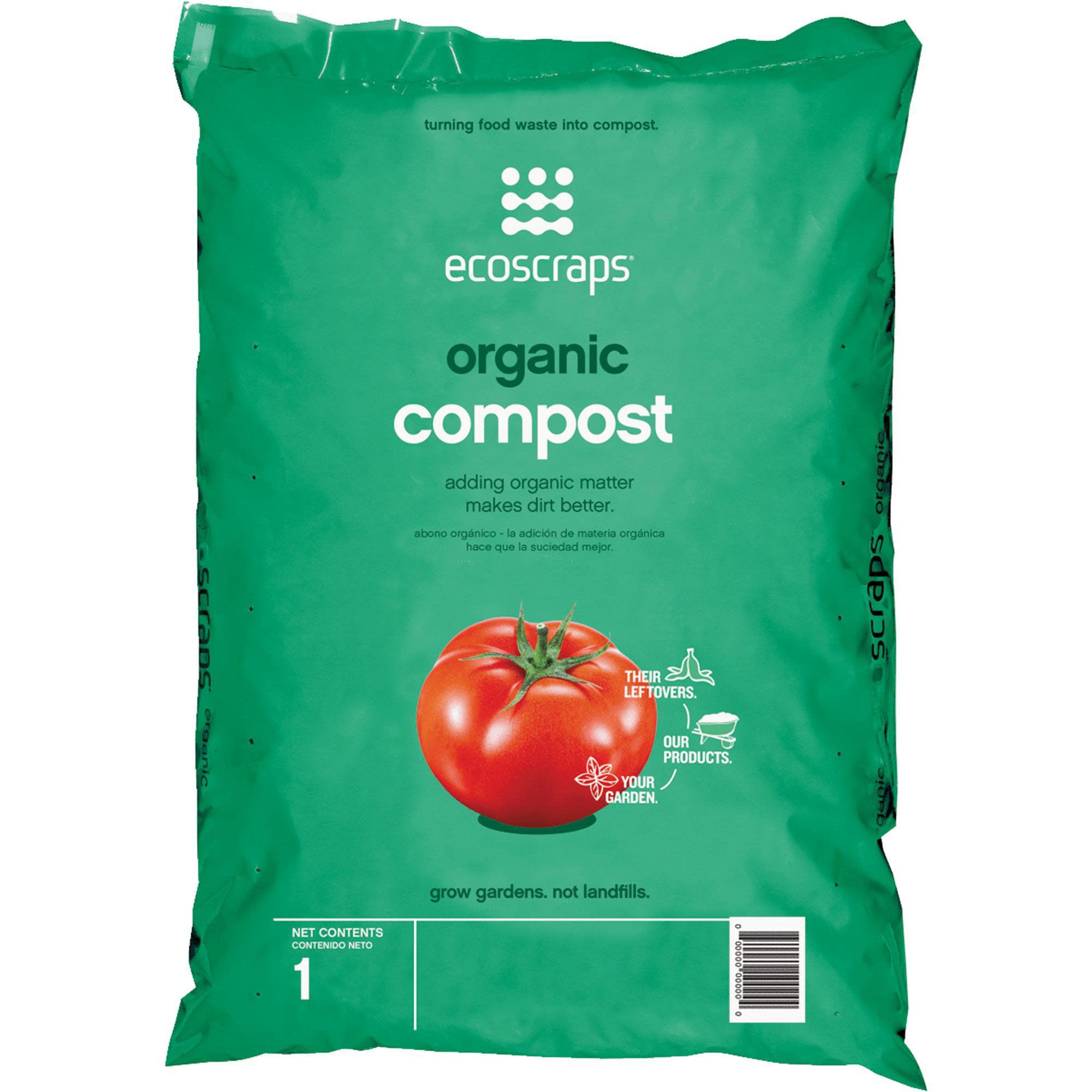 Ecoscraps Organic Compost 1 Cu Ft - Walmart.com