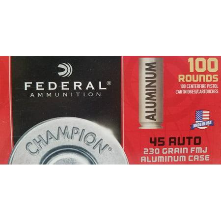 Federal Ammunition Alu 45 Auto 230gr Fmj Walmart 100
