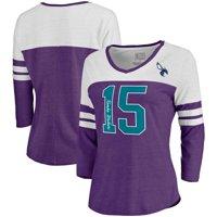 Kemba Walker Charlotte Hornets Fanatics Branded Women's Starstruck Name & Number Tri-Blend 3/4-Sleeve V-Neck T-Shirt -