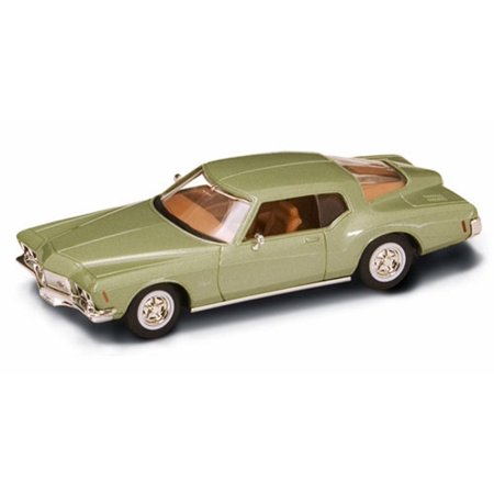 Buick Gs Green Car - 1971 Buick Riviera GS, Metallic Green - Road Signature 94252 - 1/43 Scale Diecast Model Toy Car