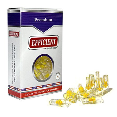 EFFICIENT Cigarette Filters, Filter Tips For Cigarette Smokers 1 Pack (30