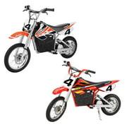 Razor Electric Dirt Rocket Kids Motorcross Motorcycle Bikes, 1 Orange & 1 Red