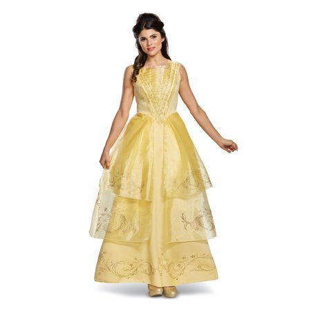 Disney Beauty and the Beast - Belle Ball Gown Deluxe Adult Costume - Cute Couple Disney Costumes