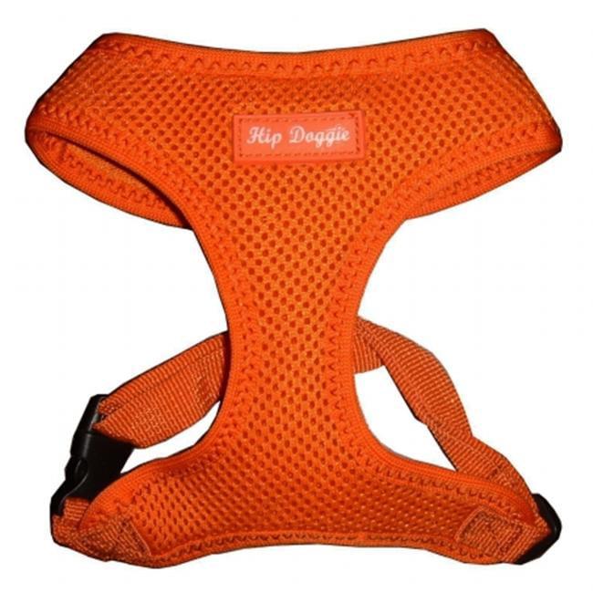 Hip Doggie Ultra Comfort Orange Mesh Harness Vest