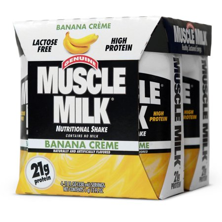 CytoSport Muscle Milk Protein Shake Banana Creme11.0 oz. x 4 pack(pack of (Protein Shakes To Gain Weight And Muscle)