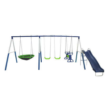 Residential Playground Equipment - XDP Recreation All Star Playground Metal Swing Set