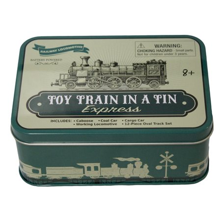 Toy Train In A Tin 16 Piece Plastic Toy Train Set In Collectible Tin Box