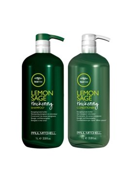 ($71 Value) Paul Mitchell Lemon Sage Thickening Tea Tree Shampoo & Conditioner, 33.8 Oz Duo