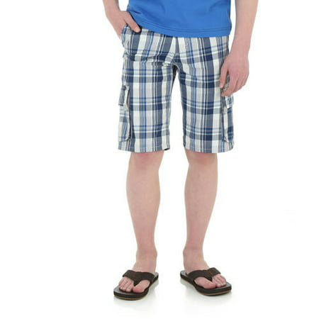 Wrangler Boys' Fashion Plaid Cargo Short