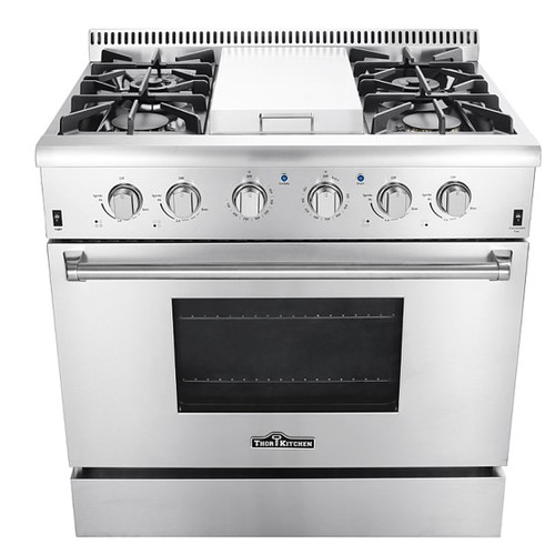 Thor Kitchen Professional 36'' Free-standing Gas Range with Griddle