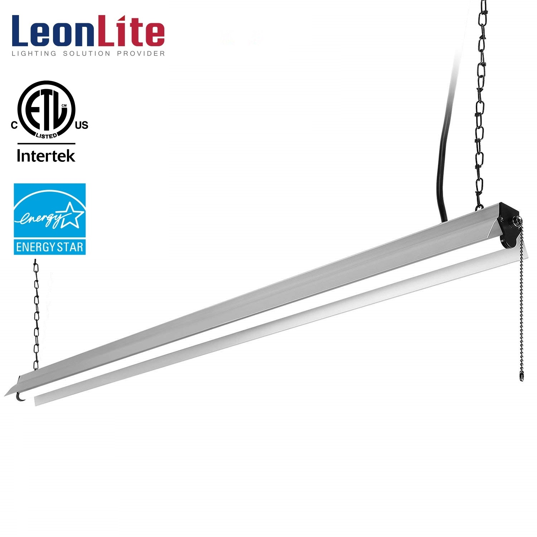 LEONLITE 4ft 40W LED Shop Light, LED Ceiling Light for Garage, 4000K Cool White