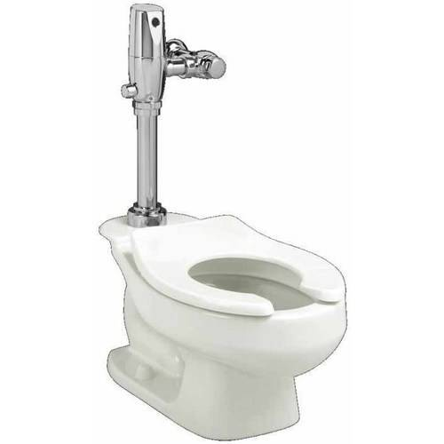 "American Standard 2282.001.020 Baby Devoro Flowise Round Front Bowl Flushometer Toilet with 10"" Rough-In, White"