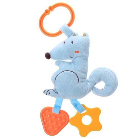 Labebe Baby Hanging Toy With RattleStuffed Animal Blue SquirrelOrange Fox Crib For Infant