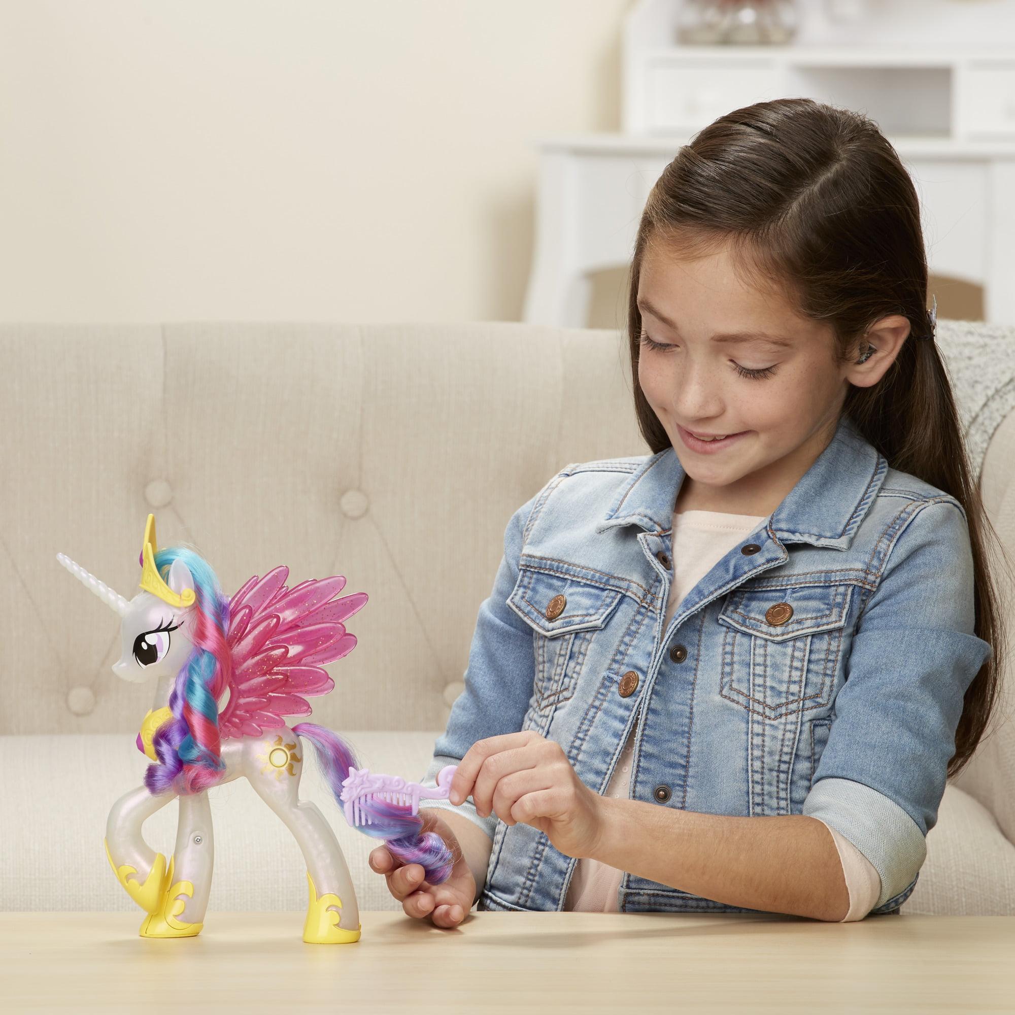 New My Little Pony Princess Celestia Glitter /& Glow Hasbro Friendship Is Magic