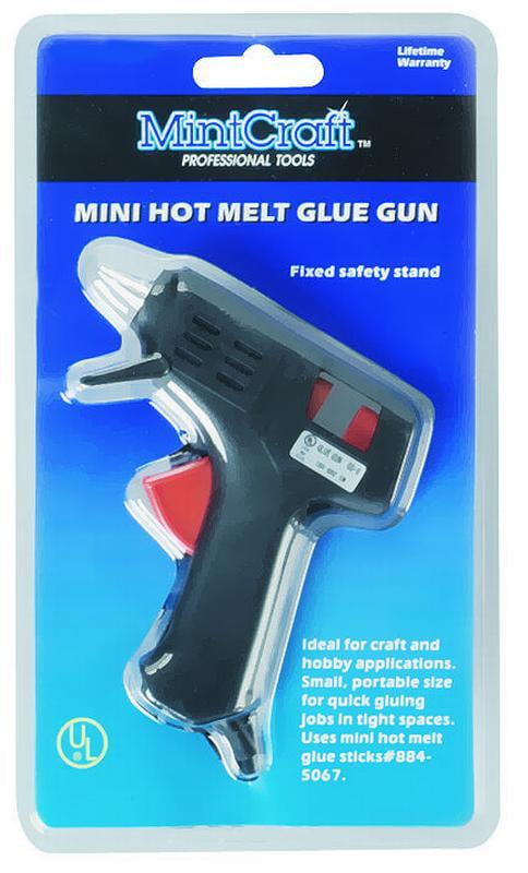 MintCraft JL-GG-103L Corded Mini Hot Melt Glue Gun, 10 W, Trigger by Mintcraft