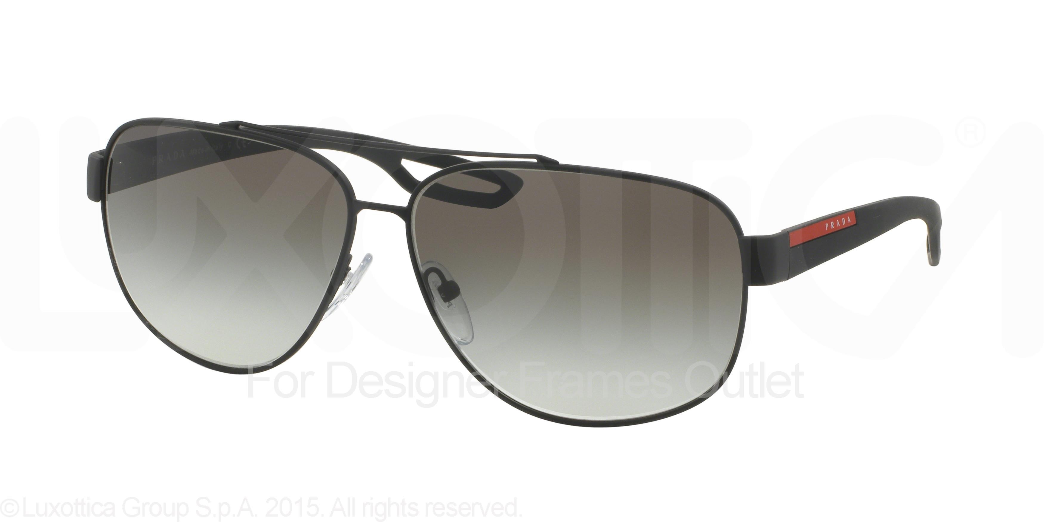 30e7c0cc1e ... order prada sport prada sport sunglasses ps 58qs dg00a7 black rubber  60mm walmart a3ba7 104cd