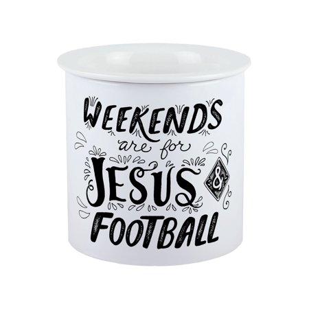 Football Dip (Carson Ceramic Jesus & Football Dip Chiller Bowl - Holds 2)