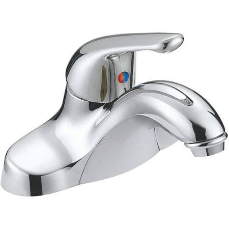 Aqua Plumb 1554010 Chrome-Plated Single-Handle Bathroom Faucet