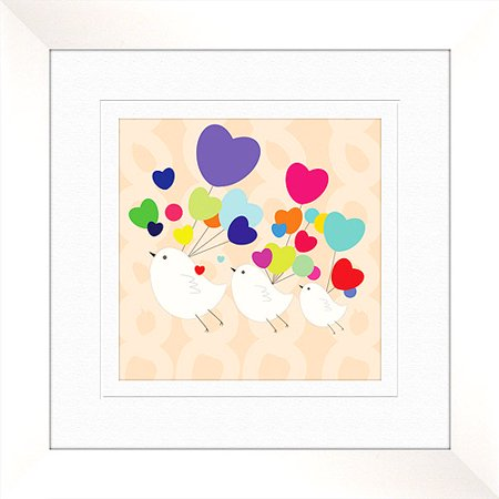 Love birds wall decor framed art for Walmart art decor