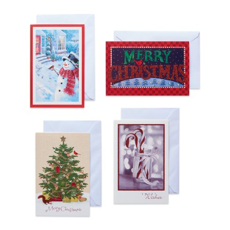 American Greetings Traditional Assorted Christmas Boxed Cards with Envelopes, 24ct