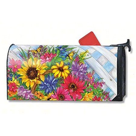 Magnet Works Mailwraps Blooming Basket Original Magnetic Mailbox Wrap Cover