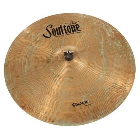 Soultone Cymbals VOSP-FLHHT13 13 in. Vintage Old School Patina Flat Hi Hat Pair Beat 13' Hi Hat Cymbals