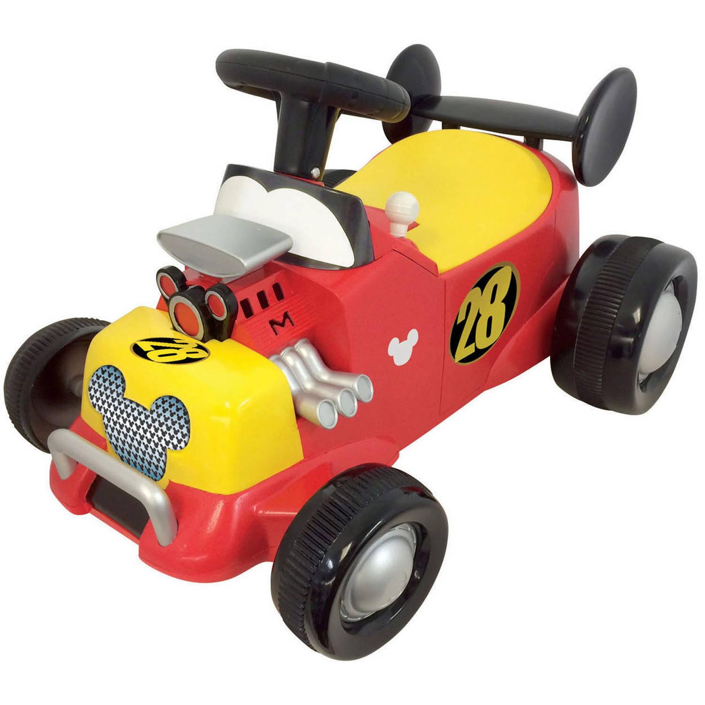 Kiddieland Disney Mickey Mouse Roadster Formula Racer Sound Activity Ride-On by Kiddieland