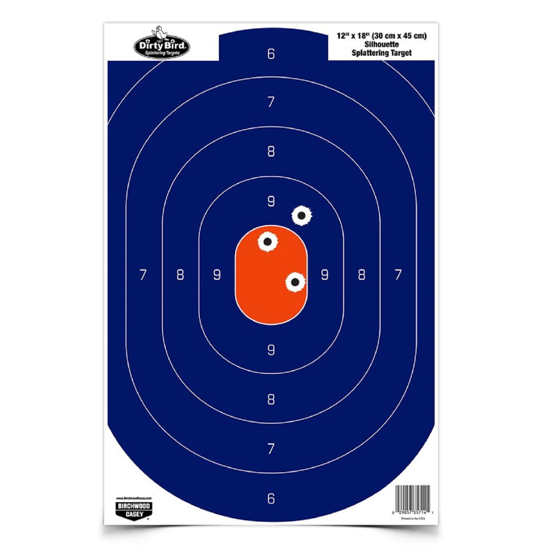 Birchwood Casey 12in x 18in Blue Orange Silhoutte-50 Targets by Supplier Generic
