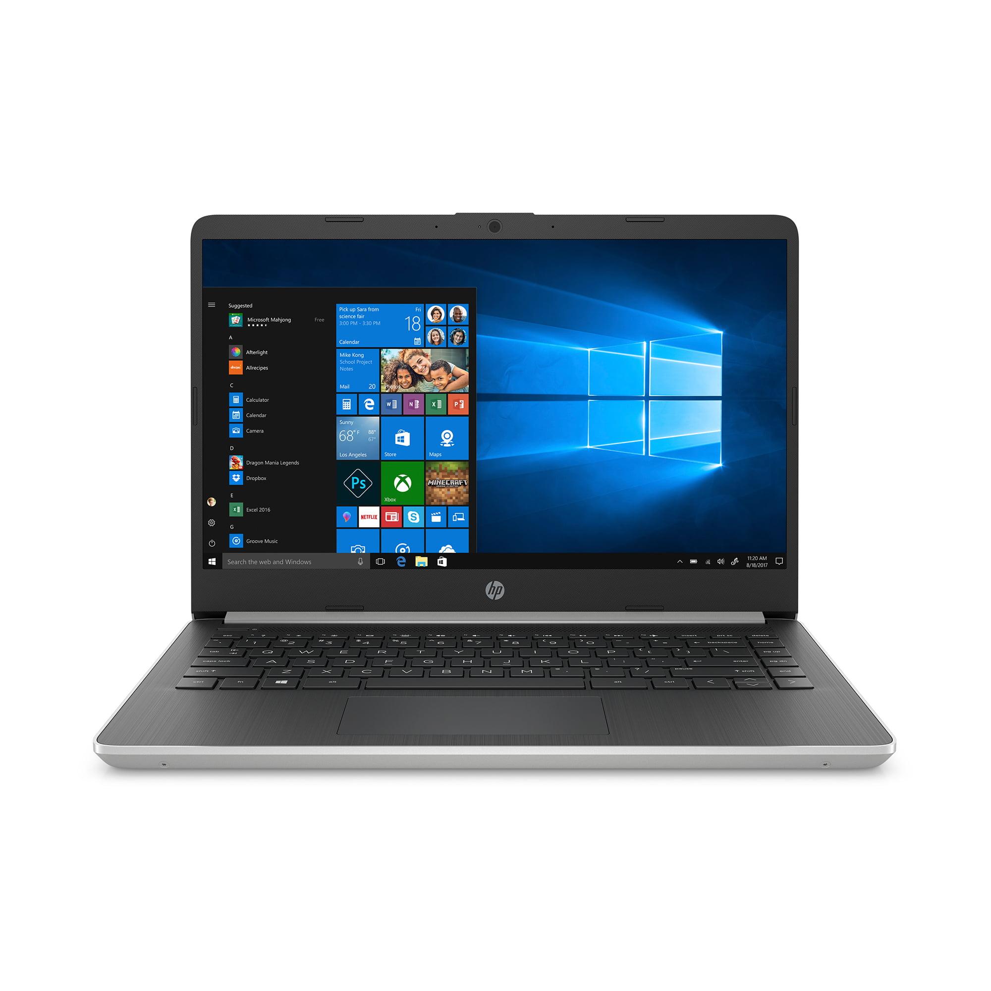 "HP 14"" Laptop, AMD Ryzen 3 3200U, 4GB SDRAM, 128GB SSD, Whisper Silver, 14-dk0028wm"
