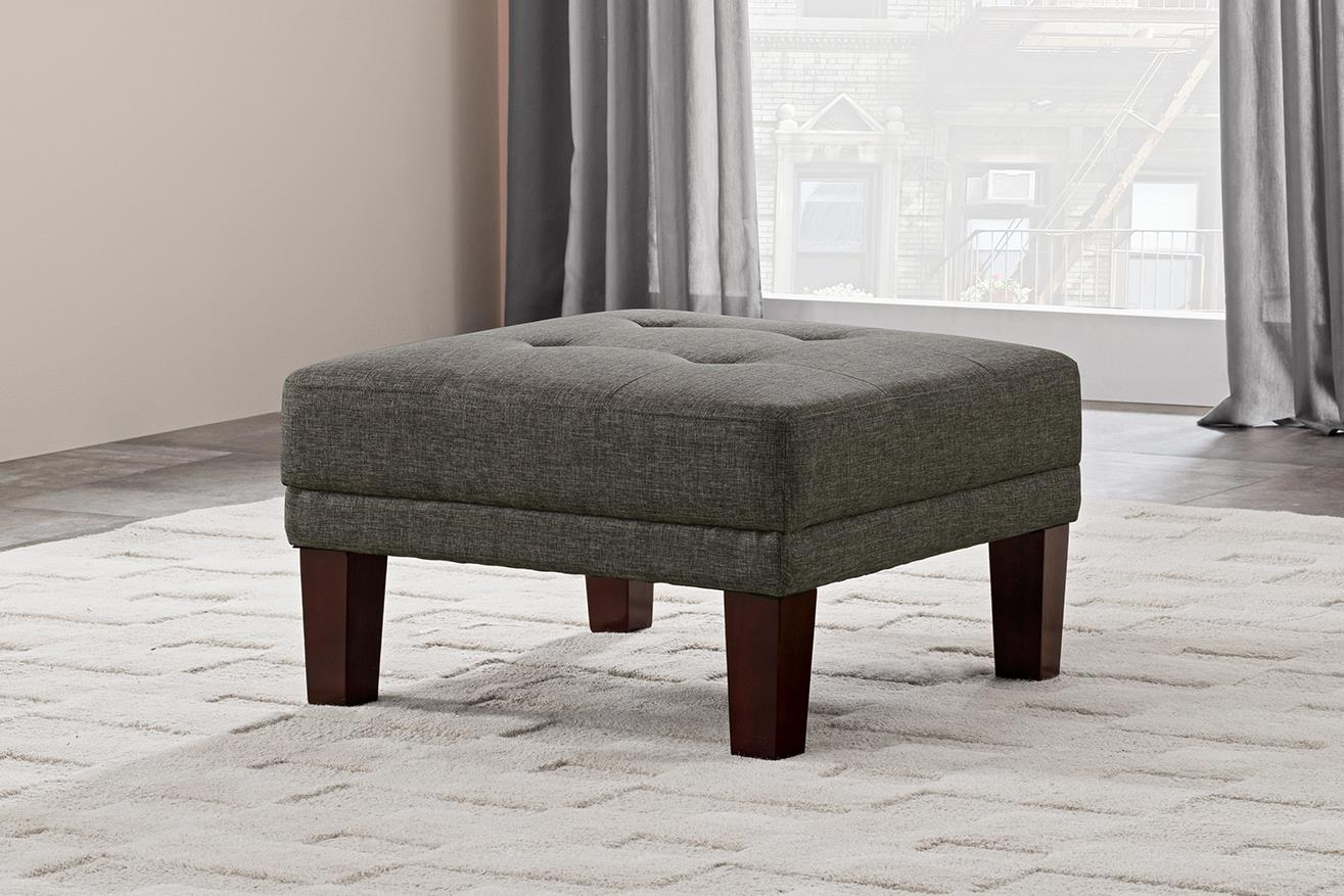 Better Homes and Gardens Porter Square Ottoman, Gray Linen by Dorel Home Products