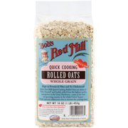 Bob's Red Mill Rolled Oats Quick Cereal, 16 oz (Pack of 4)