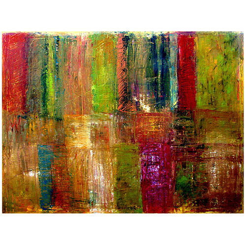 """Trademark Fine Art """"Color Panel Abstract"""" Canvas Art by Michelle Calkins"""