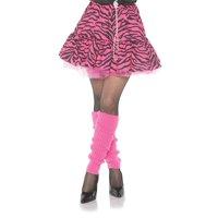 80's Zebra Skirt Pink & Black Adult Costume Skirt