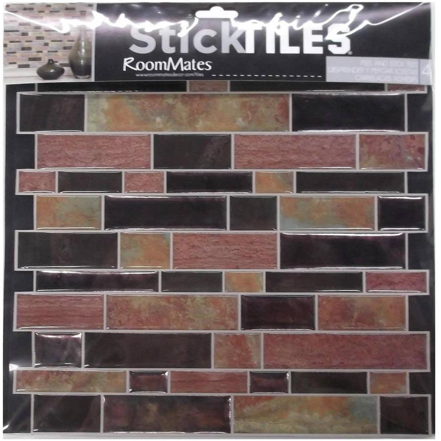 Room Mates TIL3228FLT Modern Long Stone Peel & Stick Tiles