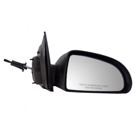 Passengers Manual Remote Side View Mirror Textured Replacement for Chevrolet Cobalt Pontiac G5 15943864