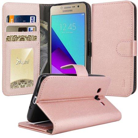 Galaxy Grand Prime Plus Case, Galaxy J2 Prime Case, TAURI [Kickstand] Wallet