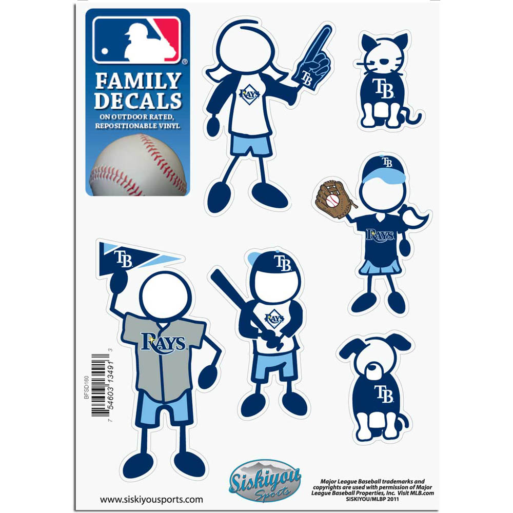 Tampa Bay Rays Official MLB Small Family Decal Set by Siskiyou 134913