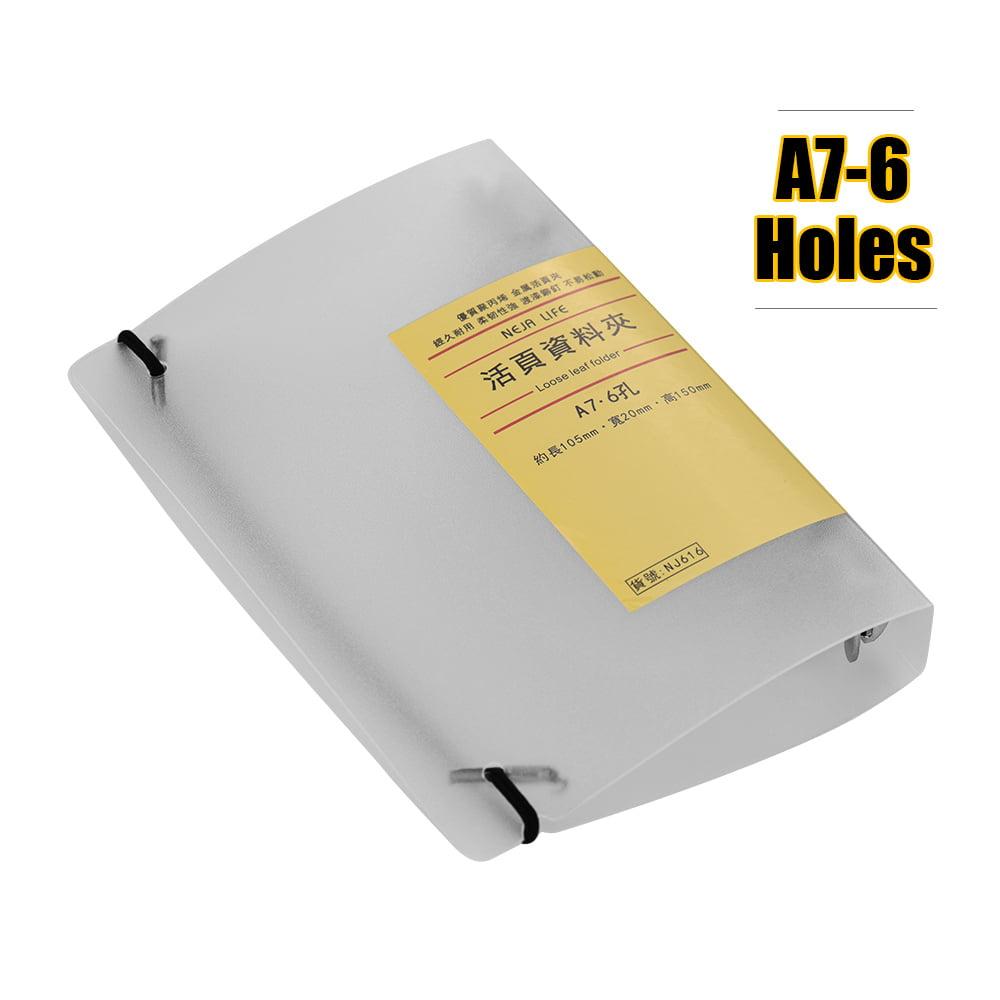 A7 6-Ring Binder PP Cover Translucent Loose- Binder Folder