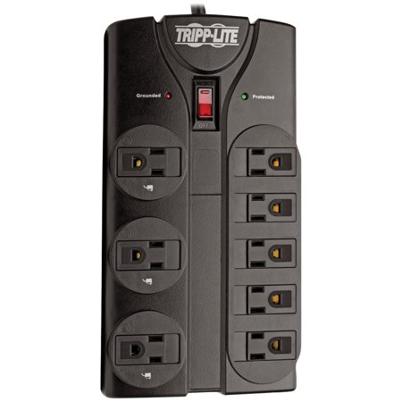 Tripp Lite TLP808B Protect It! 8-Outlet Surge Protector, 8ft (Tripp Lite Isobar Surge Protection)