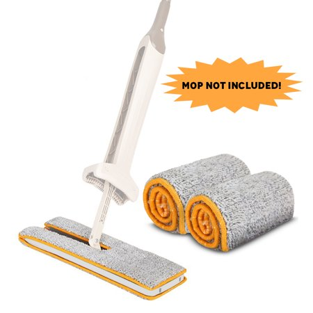 - TSV Double Sided Lazy Mop Cloth 360 Spin Automatic Squeeze 15 Inch(38cm) Cloth Mop For Your Living Room,Hardwood Floor,Kitchen,Bathroom (A Total Of Two Pieces Of Fiber Cloth)